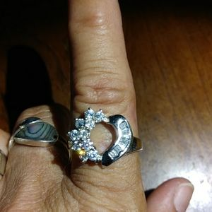 Jewelry - SALE!! Sterling silver cz marked 925 ring